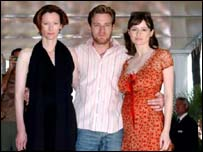Tilda Swinton, Ewan McGregor and Emily Mortimer at Cannes