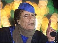 Líder libio Muamar Gadafi