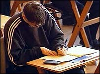 Pupil sitting exam