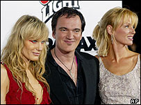 Daryl Hannah, Quentin Tarantino and Uma Thurman