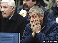 Ian McGeechan shows his horror during a poor Scotland performance