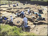 The dig at Sedgeford. Used by permission of the Sedgeford Historical and Archaeological Research Project