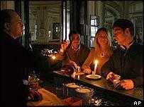Italians drink coffee in the dark