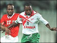 Zambia's Kalusha Bwalya in action