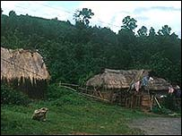 Huts in rural India