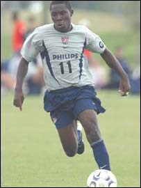 Freddy Adu in action for the US Under-17 national team