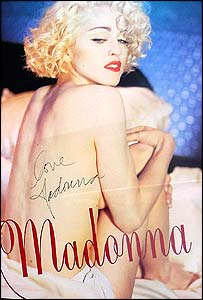Madonna poster signed by the star