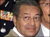 Malaysian Prime Minister Dr Mahathir Mohamad