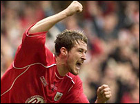 Bristol City striker Lee Peacock