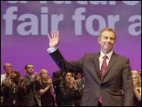 Tony Blair at Labour party conference