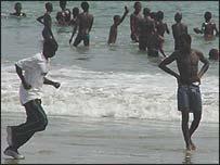 Beach in Freetown
