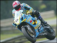 Suzuki's John Reynolds in action
