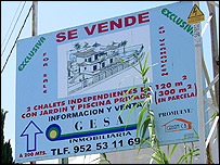 Spanish property for sale sign