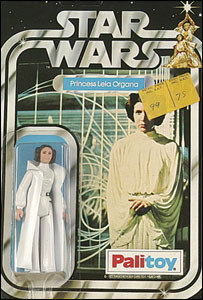 Plastic toy of Princess Leia