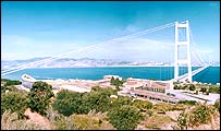 Computer generated image of planned Sicilian bridge