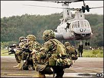 Infantes de marina de EE.UU. en Monrovia