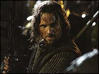 Viggo Mortensen as Aragorn in The Lord Of The Rings: The Two Towers