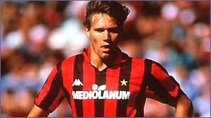 Marco van Basten during his AC Milan days