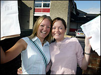 Ballyclare High School students celebrate their A-level results