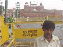 Nand Lal outside the Red Fort