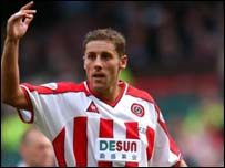 Sheffield United midfielder Michael Brown