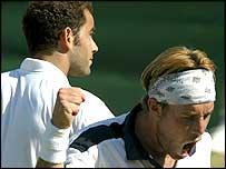 Pete Sampras loses to George Bastl at Wimbledon 2002