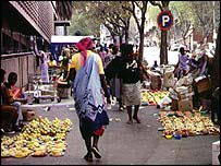 Street traders in Johannesburg