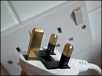 Power socket and plug, BBC