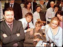 Cast of BBC Two's The Office