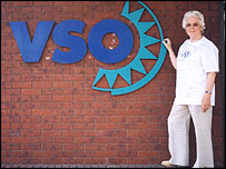 jean outside VSO headquarters