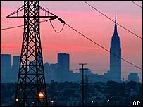 New York power lines