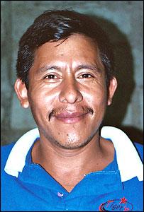 Pedro Romero Mart�nez, presidente de la Uni�n de Peque�os Productores de Caf� de Oaxaca