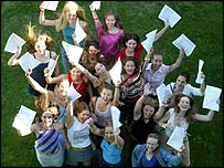 Successful A-level candidates