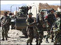 Pakistani troops in Angore Ada near Paktika province on 2 October