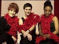 Actresses in a London performance of The Vagina Monologues