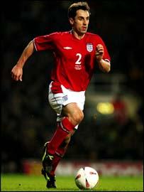 England's Gary Neville