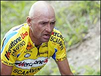Marco Pantani in action in the 2003 Tour of Italy