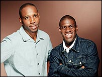 Jason Mitchell (right) with early breakfast co-host Iyare Igiehon