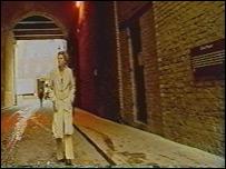 Photo of Carole Walker walking the streets of London