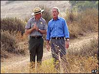President Bush in California