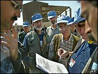 Weapons inspectors in Iraq