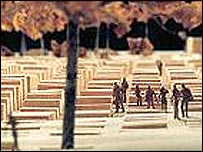 A model of the Berlin memorial. Picture: Foundation for the Memorial to the Murdered Jews of Europe