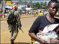 Government militia fighter in Monrovia