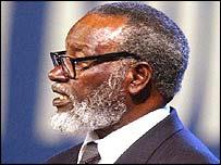 Sam Nujoma, presidente de Namibia.