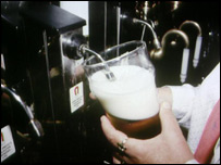Pint being poured
