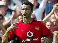 Manchester United goalscorer Ryan Giggs