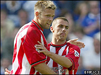 James Beattie (left) and Kevin Phillips