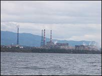 Pulp and Paper factory on Lake Baikal