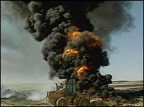 Iraqi oil pipeline blaze