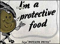 Potato Pete poster - (With permission of the World War II Ex-Raf website)